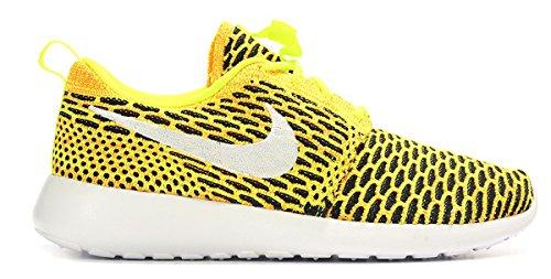 Nike Women's Roshe One Flyknit Running Shoes-Volt/White-Total Orange-Black-7.5 (Yellow And Nike Shoes Orange)
