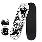 LZETC Professional Skateboards Complete Canadian Maple Sports , Deck of Graffiti Design 8''