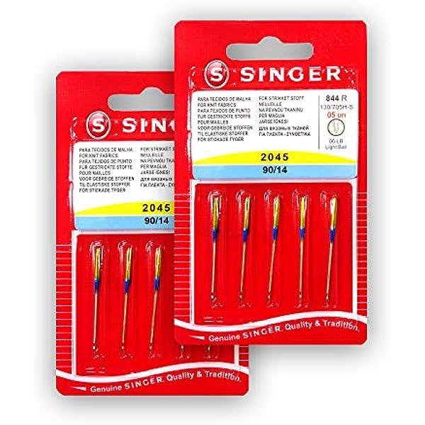Pack de 10 Agujas para Máquinas de Coser Singer 2045 Grosor 90/14 ...