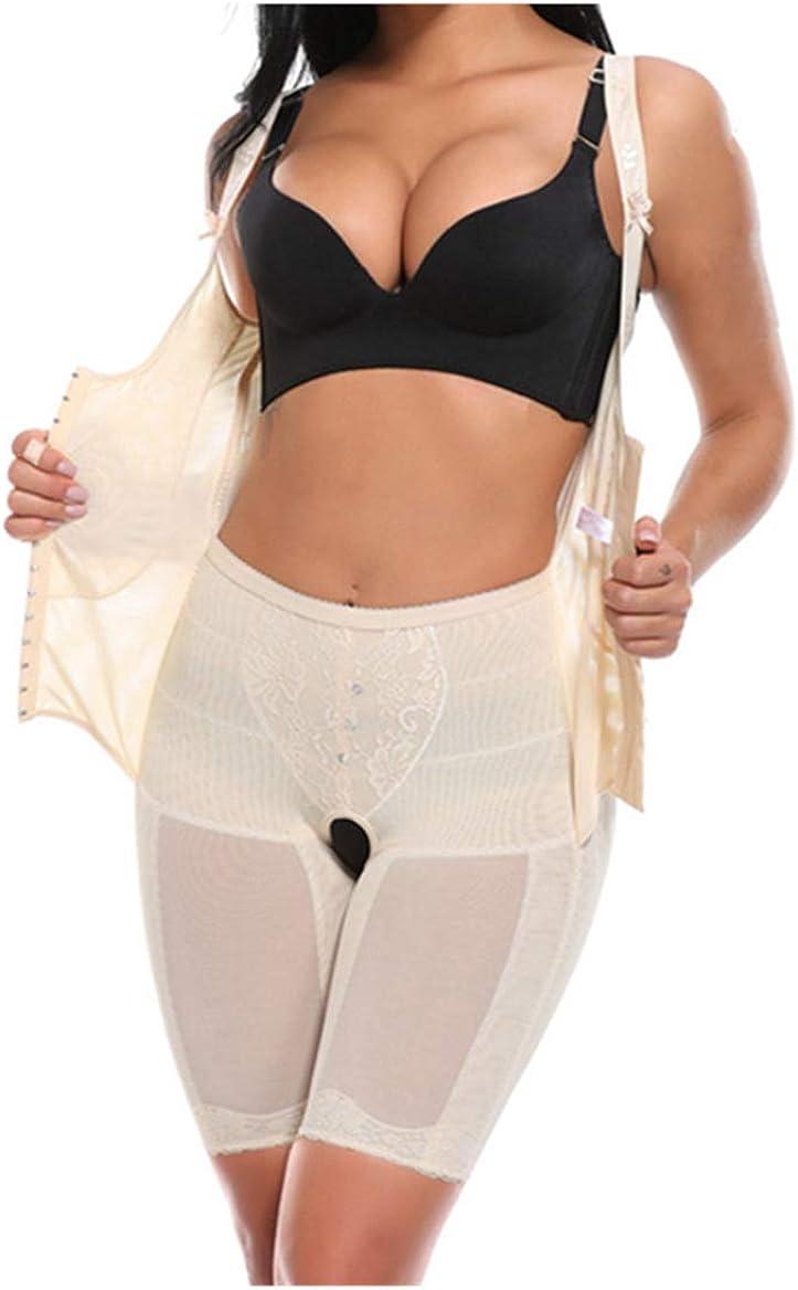 Womens Full Body Shaper Underbust Waist Trainer Bodysuits Postpartum Shapewear