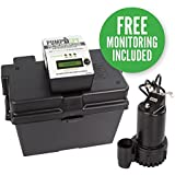 PumpSpy 12V DC Battery Back-Up Sump Pump with Built-In Internet Monitoring