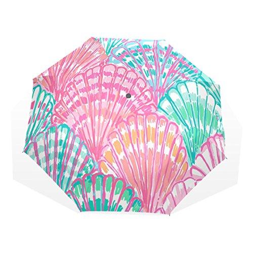 LEISISI Fashion Design Lily Pulitzer Personalized Fashion Umbrella Windproof Folding Travel Compact Umbrella