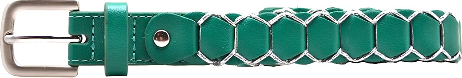 Style & Co. Womens Belt Green Faux Leather W /Silver X-Large