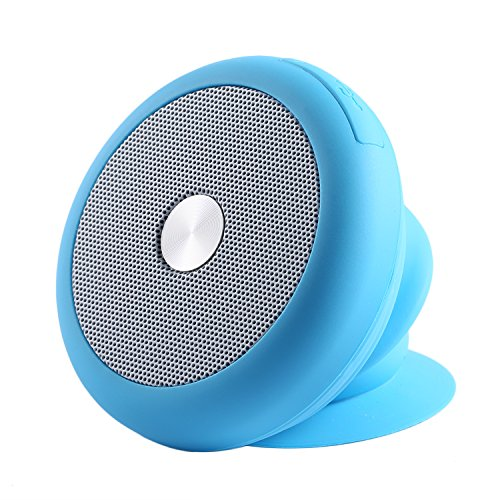 Waterproof Bluetooth Speaker,LESHP Portable Stretching Bluetooth Waterproof Shower Speaker with Suction Cup for Bathroom Music Shower Beach Pool Outdoor(Blue)