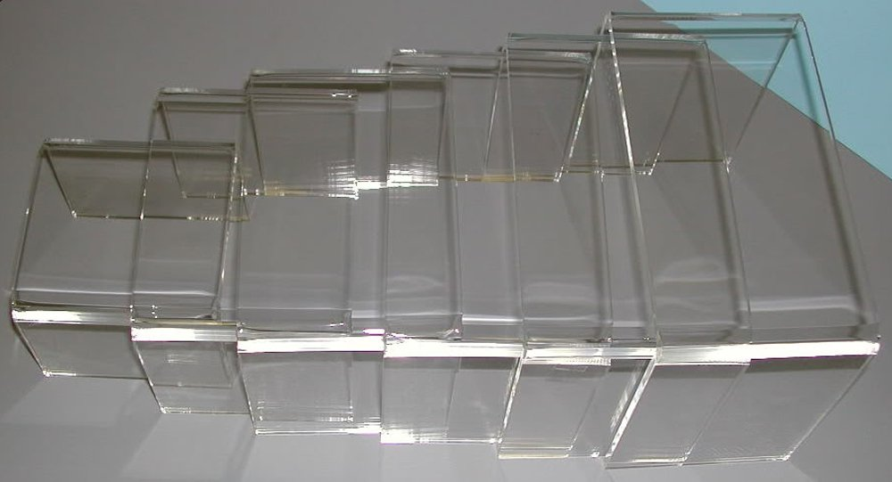 Acrylic Plexi 4''W-7''W Risers 3/16''Thick Lot of 6 Sets 36 Total Pieces NEW by Unknown