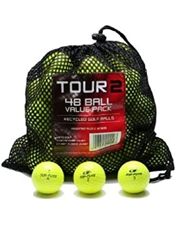 bd4ee1d355e3 Color 48 Assorted Color Recycled Golf Balls in Mesh Bag