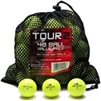Desconocido Color Various Brands Recycled Golf Balls in Mesh Bag (Yellow 48 Pack)