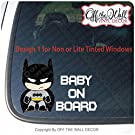 "Baby Batman ""BABY ON BOARD"" Sign Vinyl Decal Sticker for Cars / Trucks"