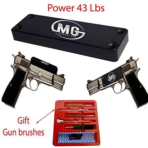 Gun Magnet Mount: Rubber Coated Magnetic Gun Mount for Your Car, Home, Wall, Desk Or Vault | Concealed Holder for Handguns, Pistols, Firearms, Shotguns, Rifles & More |