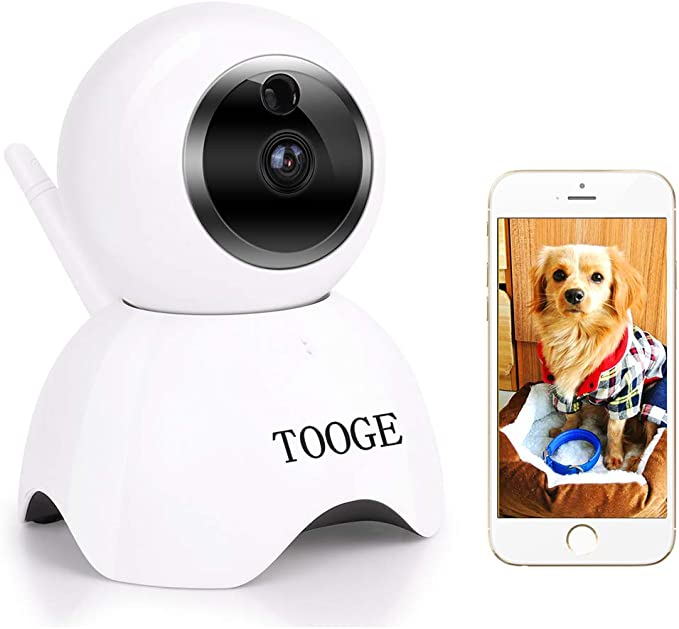 Amazon.com: TOOGE Pet Dog Camera Wireless Home Security Camera FHD WiFi Indoor Camera Pet Monitor Cat Camera Night Vision 2 Way Audio and Motion Detection: Pet Supplies