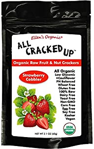 All Cracked Up Organic Raw Fruit & Nut Crackers Superfood Snacks Strawberry Cobbler