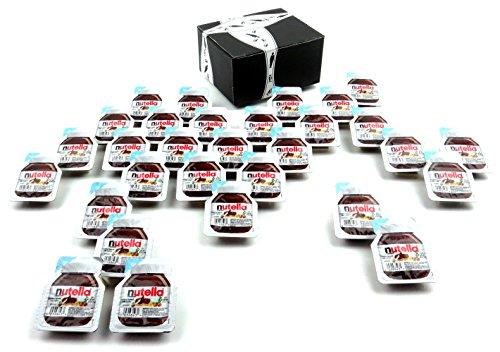 Ferrero Nutella Hazelnut Spread With Cocoa, 0.52 oz Single Serve Packets in a BlackTie Box (Pack of -