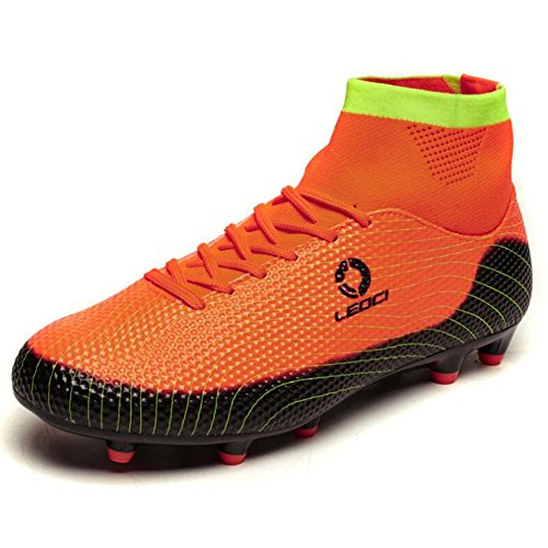 Boy's Football Boots Slip Anti Children's Shoes Men Teenagers Anti E Shake Training HUAN Boots Shoes Outdoor Soccer Football Shoes Unisex Lawn xFX5B5wq