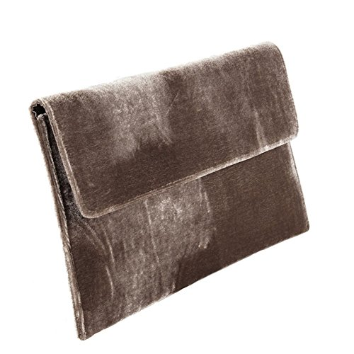 Borsa clutch, Clorinda Marrone, in velluto