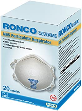 box Ronco Particulate Respirator N95 Mask Masks 20