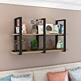Qianniu Wall Mounted Shelves Organizer, Industrial Retro Floating Wall Shelves Multi Use For Home Kitchen Coffee Storage & Organization Product