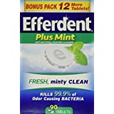 Efferdent Plus Mint Anti-Bacterial Denture Cleanser Tablets, 90 Count