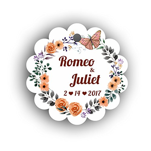 100Pcs Personalized Hang Gift Tag With Name For Wedding and Bridal Shower or Baby Shower Favor (TAG-01) (Bridal Hang Tags)