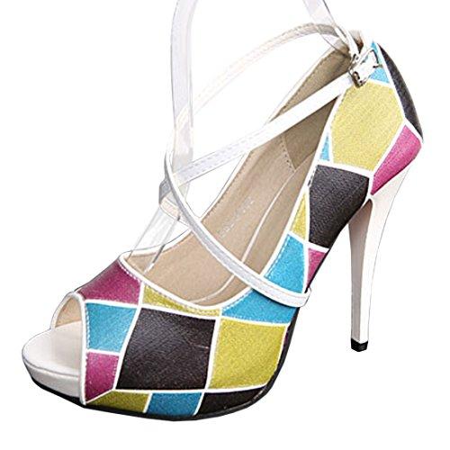 Andux Frauen Abnehmbar Anti-Rutsch Abnehmbare Schuhbaender Zum Befestigen von hochhackigen Schuhen und flache schuhe 1 Paar PXD-02 Spiegel weiß