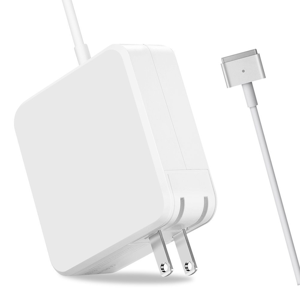 SiliconV Charger Repalcement for MacBook Air Charger 11 Inch 13 Inch After 2012 AC 45W Magsafe 2 T-tip Connector Power Adapter