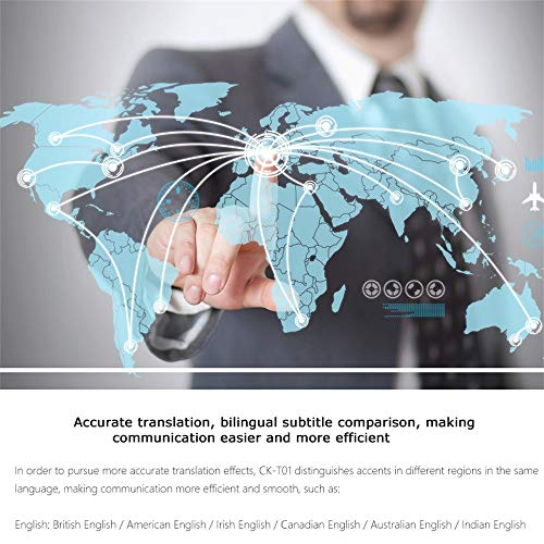 Ecurson 2.4'' Smart Instant Smart Voice Translator Real Time WiFi 43 Languages Speech Translation Machine (Black) by Ecurson (Image #5)