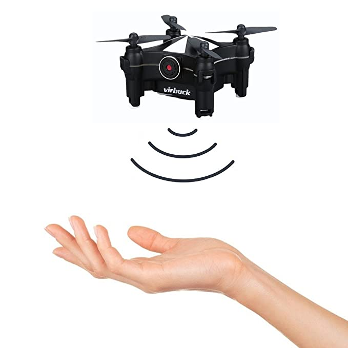 Virhuck V-3 Drone Wifi FPV Drone Quadcopter, con 0.3 MP Camera/Altitude Hold/Control de APP /One-key Despegue/Detección de Gestos/Rotación 3D/360 Degree ...