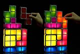 Tetris Desk Lamp, LingsFire Tetris Light DIY Constructible Night Light Decorative Stackable LED Desk Lamp (seven colors)