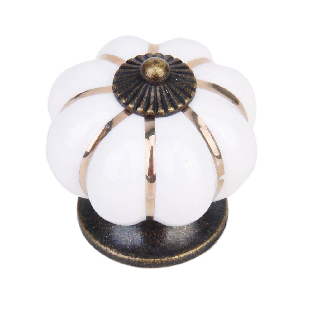 Cute Pumpkin Drawer Pull Knob Cabinet Door Handle Knob (White) Generic