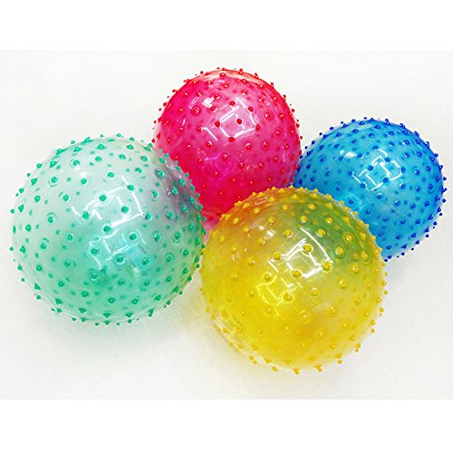 (Balls Novelty Transparent Sensory Knobby for Kids and Toddlers,Soft Massage Toys for Boys and Infant Develop Tactile Senses - (About 9inch))