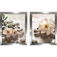 Art Sets of 2 Twin Set Matching Canvas Framed Free Shpping Made in Canada