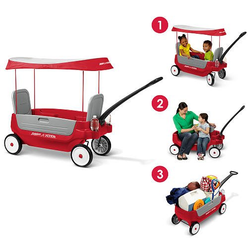 Radio Flyer Deluxe Grandstand 3-in-1 Wagon