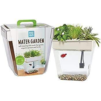 Back To The Roots Water Garden Betta Fish Tank 3 Gallon Hydroponics Growing System