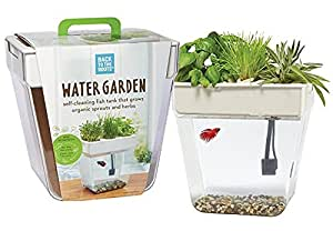 Back to the Roots Water Garden – Mini Aquaponics Beta Fish Tank (Packaging May Vary)