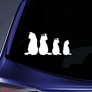 Bargain Max Decals Kitty Cat Family Sticker Decal Notebook Car Laptop 8