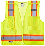 Radians SV46GL Class 2 Breakaway Survey Safety Vests, Two Tone Green, Large