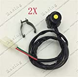 scooter 2PCS Button Ignition Start Switch for YX Lifan SSR YCF Thumpstar Electric Start Pit Dirt Bike ATV Quad Buggy Motorcycle