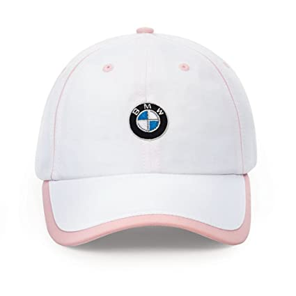 1f3ea906556 Amazon.com  BMW Ladies  Microfiber Cap White Pink  Automotive