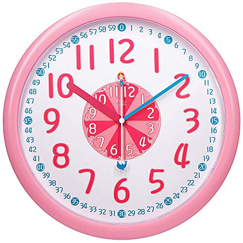 (TXL Kids Teaching Wall Clock Silent 12