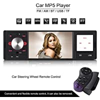 Fosa 4 inch HD Digital Screen Din Car Radio MP5 Player with Bluetooth FM AM AUX Radio Car Audio player upport USB SD Card AUX Input Wireless Remote Control and Steering Wheel Remote Controller