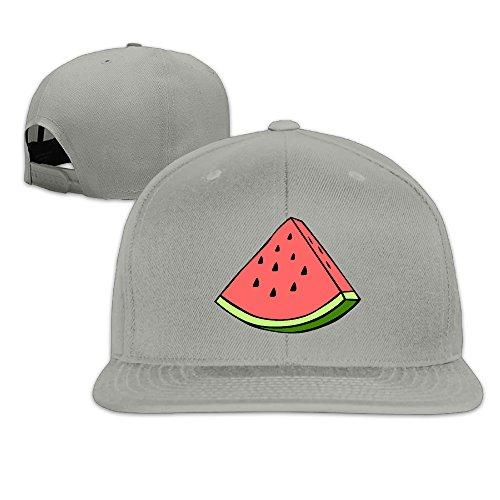 Quxueyuannan Watermelon Adjustable Hat Baseball Flat Bottom Cap Ash