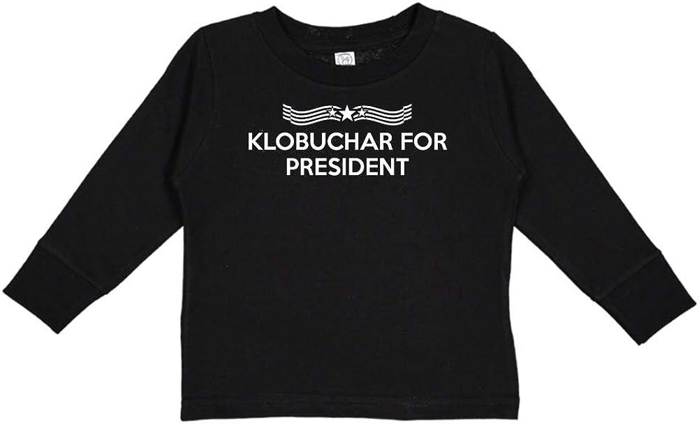 Presidential Election 2020 Toddler//Kids Long Sleeve T-Shirt Klobuchar for President Star Banner