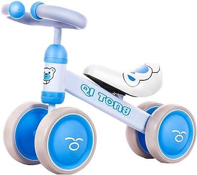 ZXDBK Bicicleta de Equilibrio, Bici sin Pedales Niño 1 año Viejo Niños Niñas Bebé Caminar Bicicleta Primera Bicicleta(No es Necesario Instalar),Blue: Amazon.es: Deportes y aire libre