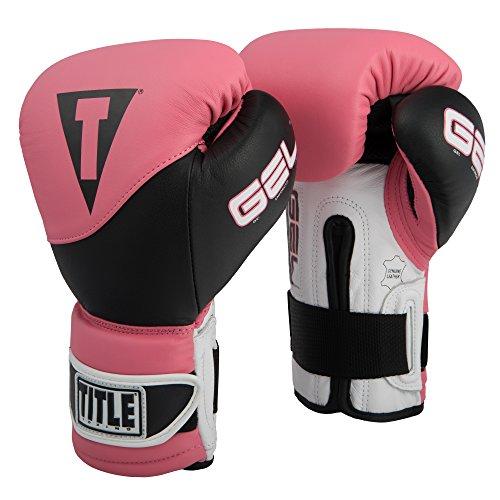 (Title Boxing GEL Suspense Training Gloves, Pink/Black, 16 oz)