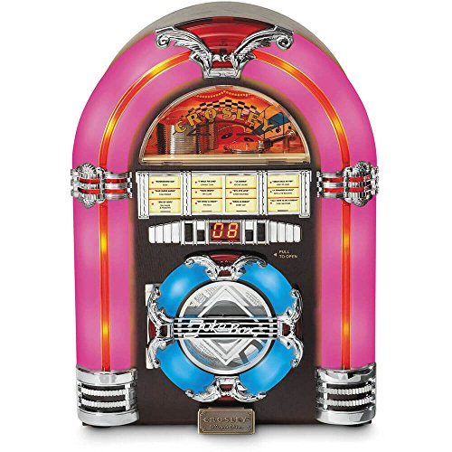 Crosley CR11CD Jukebox CD Player with Authentic Neon