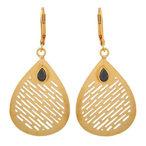 Maayra College Filigree Earrings Black Bronze Dangler Drop Dailywear Jewellery by Maayra