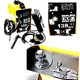 Yellow Welding Machine Welder Spool Wire Auto Feed + Fan 120AMP MIG 130 220V Flux Core Heavy Duty Home Business High Performance Kit - Skroutz