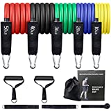 GREENTREEN Workout Weights Bands,Exercise Bands, Pull Rope Tension Band Set Resistance Bands Set for Weights Exercise, Fitnes