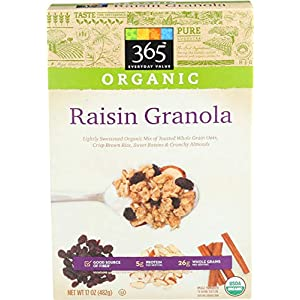 365 Everyday Value, Organic Raisin Granola, 17 oz