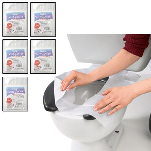 50 Hygienic Toilet Paper Seat Covers Disposable Protector Travel Work Train New by Kole Imports