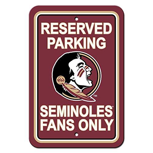 Florida State Seminoles Street Sign - NCAA Florida State Seminoles Plastic Parking Sign, 12 x 18-Inch, White